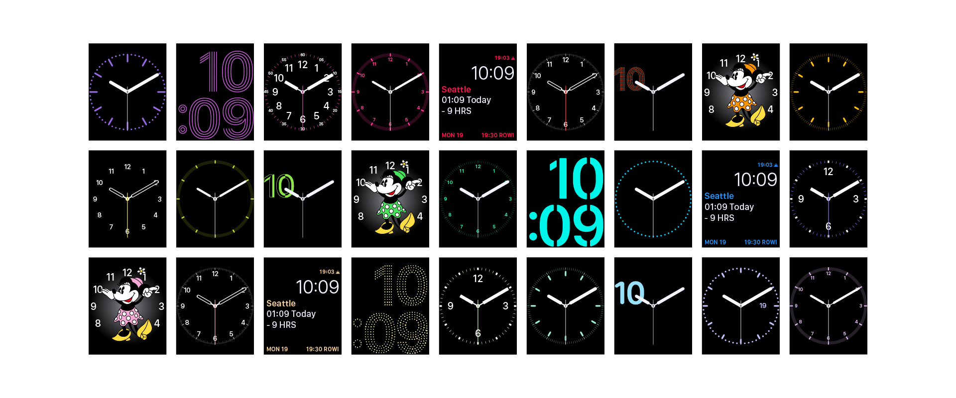 WatchOS applied colors